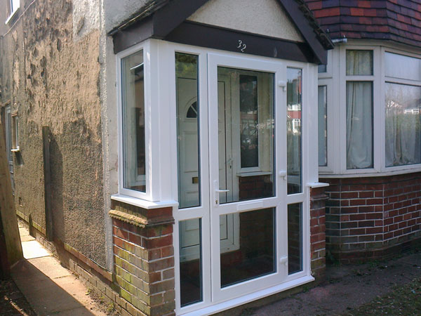Erdington double glazed windows upvc composite doors for Double glazed porch doors